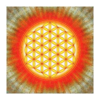 Blume des Lebens - Sonne II Gespannte Galerie Drucke