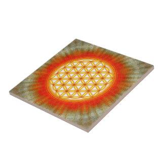 Blume des Lebens - Sonne II Kleine Quadratische Fliese