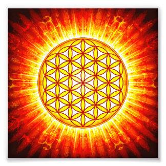 Blume des Lebens - Sonne III Fotografischer Druck