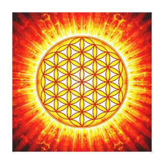 Blume des Lebens - Sonne III Galerie Gefaltete Leinwand