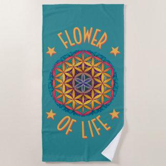 Blume des Lebens Strandtuch