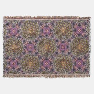 Blume des Lebens - strickendes nahtloses Muster V Decke