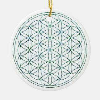 Blume des Lebens (V-Erde) Keramik Ornament