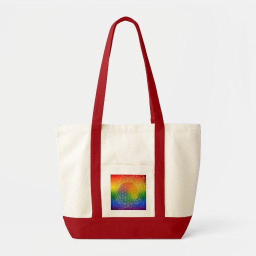 Blume des Lebens - Verzierungs-Regenbogengold Einkaufstaschen