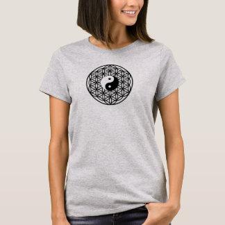 Blume des Lebens - yin Yang T-Shirt