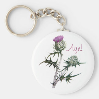 Blume des schottischen standard runder schlüsselanhänger
