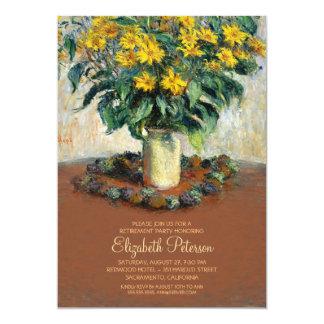 Blume, die feine Kunst-Ruhestands-Party malt 12,7 X 17,8 Cm Einladungskarte