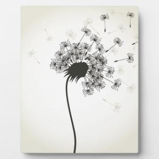 Blume ein Löwenzahn Fotoplatte