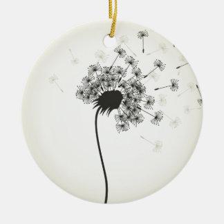 Blume ein Löwenzahn Keramik Ornament