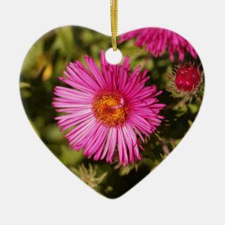 Blume einer Neu-England Aster Keramik Ornament