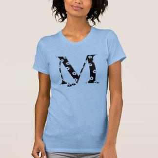 Blume gemusterter Buchstabe M T-Shirt