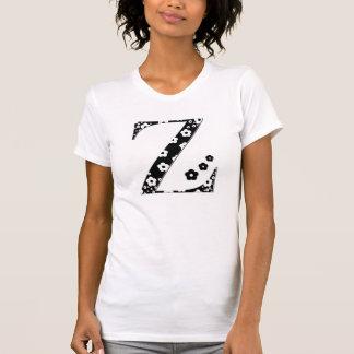 Blume gemusterter Buchstabe Z T-Shirt