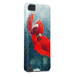 Blume im Regen iPod Touch 5G Hülle