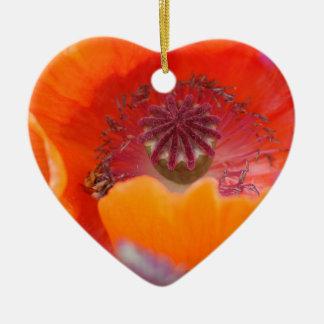 Blume im Rot Keramik Ornament