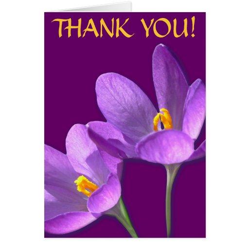 Blume kardiert lila Blumen-kundenspezifische Gruß- Karten