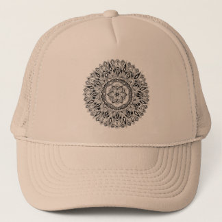 Blume Mandala mit Samen des Lebens Truckerkappe