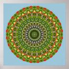 Blume-Mandala, Wildblume Poster