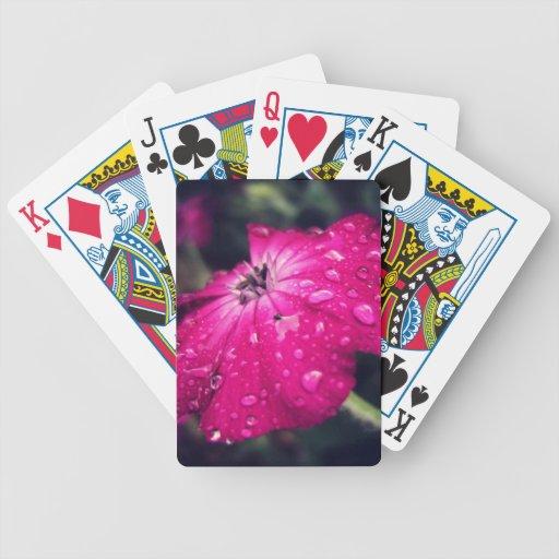 Blume mit Regentropfen Pokerkarten