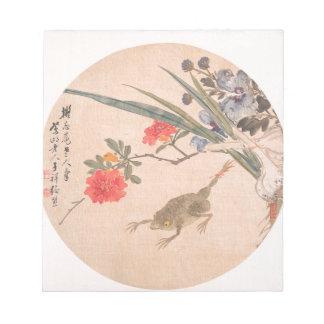 Blume und Kröte - Zhang Xiong (Chinese, 1803-1886) Notizblock