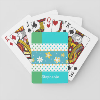 Blume und Polka-Punkt-kundenspezifische Spielkarten