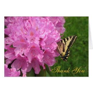 Blume und Schmetterling danken Ihnen Karte