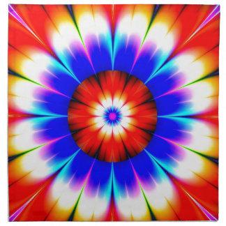 Blume versperren Farbe Serviette