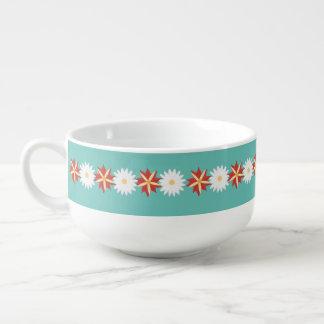 Blume verziert - romantisch und Vintag Große Suppentasse
