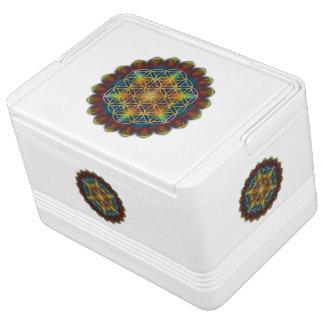 Blume von Leben-/Blume-DES Lebens - Mandala III Kühlbox