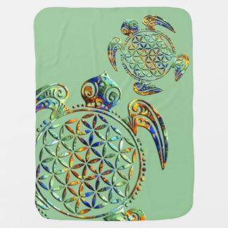 Blume von Leben-/Blume-DES Lebens - Schildkröte Kinderwagendecke