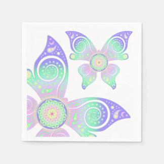 Blume von Leben-/Blume-DES Lebens - Schmetterling Papierservietten