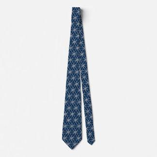 Blume von Leben-/Blume-DES Lebens - silbernes Krawatte