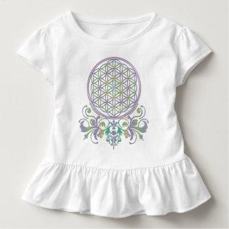 Blume von Leben-/Blume-DES Lebens - Verzierungen Kleinkind T-shirt