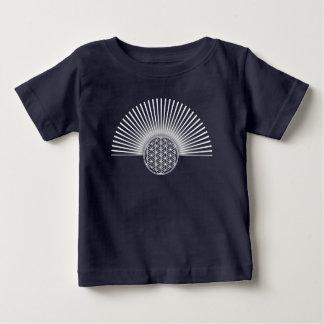 Blume von Leben-/Blume-DES Lebens - weiße Ebene Baby T-shirt