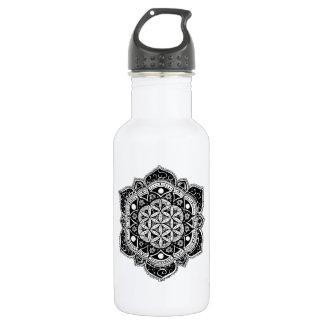 Blume von LebenMandala Edelstahlflasche