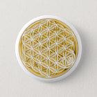 Blume von Live/voll von Gold Runder Button 5,7 Cm