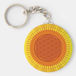 Blume von Live/von sonnigem Entwurf Standard Runder Schlüsselanhänger