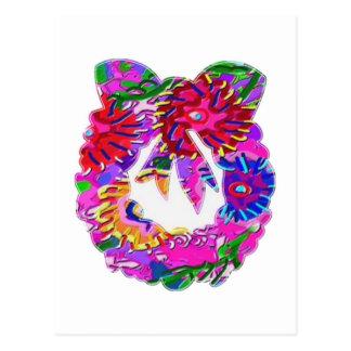 BlumeART101 BlumenWreath durch Navin Postkarte