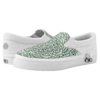 Blumemandala-Beleg auf Schuhen Slip-On Sneaker