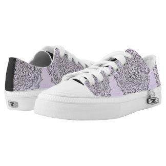 Blumemandala-niedrige Spitzenschuhe Niedrig-geschnittene Sneaker