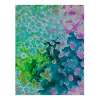 Blumen abstrakt postkarte