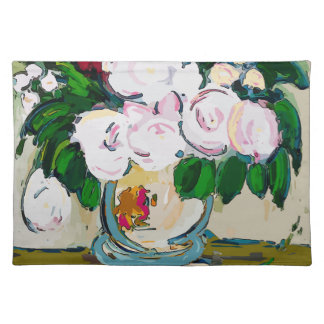 Blumen abstrakt tischset