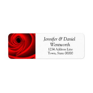 Blumen-Adressen-Etiketten Rote Rose Rücksende Aufkleber