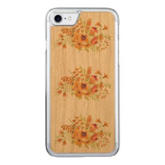 Blumen Apple iPhone 7 dünner Kirschholz-Kasten Carved iPhone 8/7 Hülle