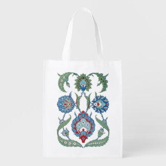 Blumen-Arabeske-Markt-Taschen Einkaufstaschen