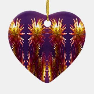 Blumen-Arbeiten Keramik Herz-Ornament