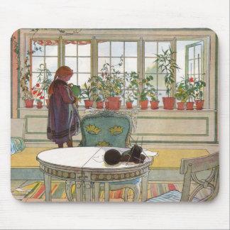 Blumen auf dem Windowsill durch Karl Larsson Mauspad