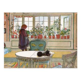 Blumen auf dem Windowsill durch Kunst Karls Postkarte