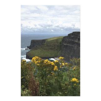 Blumen auf den Klippen von Moher Briefpapier