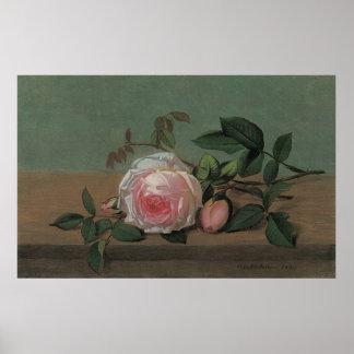 Blumen auf einer Leiste durch Ottesen, Vintages Poster