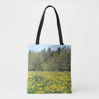 Blumen auf New Hampshire Handtasche